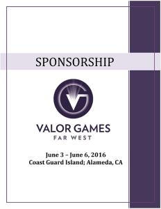 Valor Games Far West 2016 - Sponsorship Packet